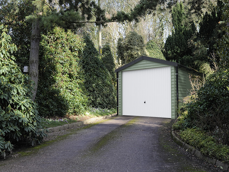 Timber single garage