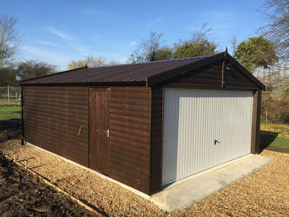 Cotswold Double Garage in Dark Oak