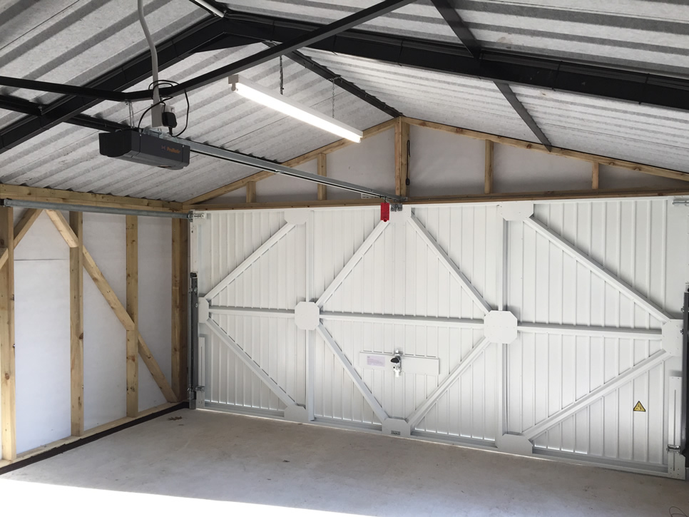 Timber Double garage Internal