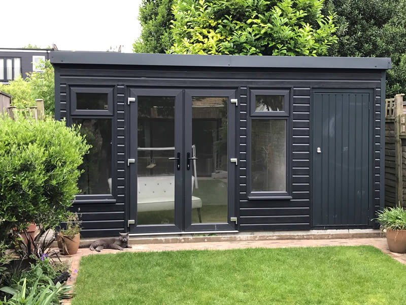 Pembroke garden room in Anthracite 4.5m wide x 3.5m deep