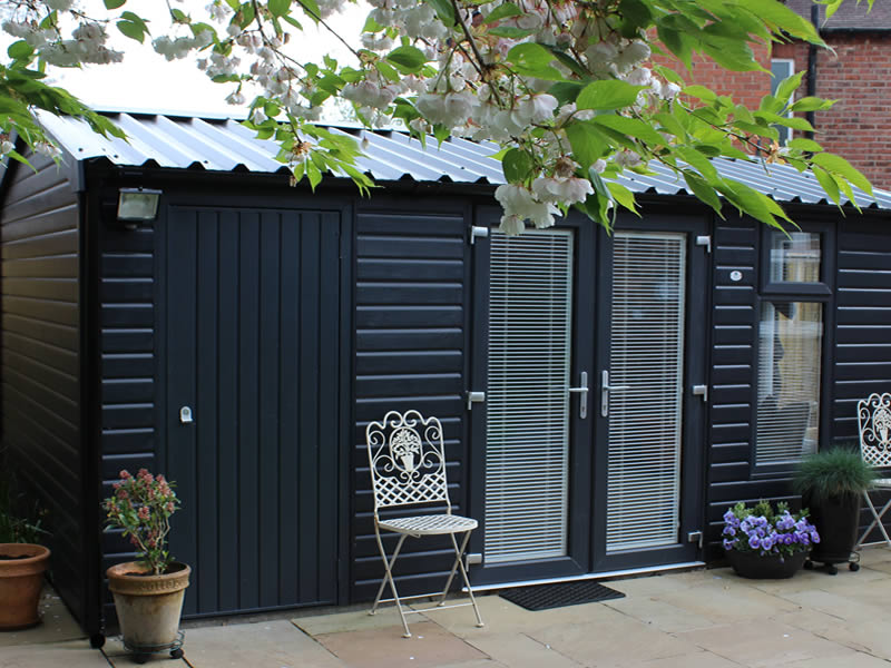 Pembroke garden room with store 5.5m 3m finished in Anthracite