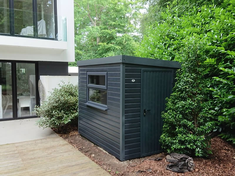 Contemporary Hampton garden store in anthracite 2.4m x 1.8m